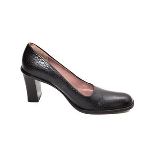 Fratelli Rossetti Brown Leather Round Toe Pumps